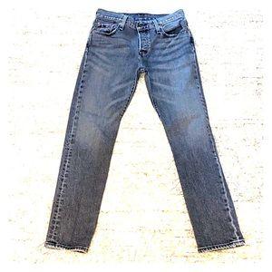Women's Levi 501 CT grey jeans 25/27